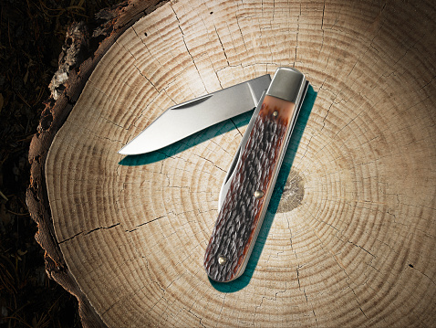 Penknife「pocket knife on a stump」:スマホ壁紙(12)