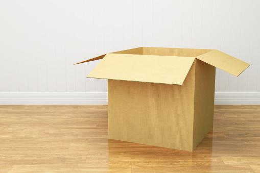 カラの箱「オープン段ボール箱」:スマホ壁紙(6)