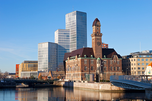 Sweden「Downtown Malmo with old and modern buildings」:スマホ壁紙(8)