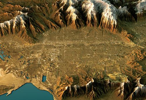 Salt Lake「Salt Lake City 3D Landscape View West-East Natural Color」:スマホ壁紙(19)
