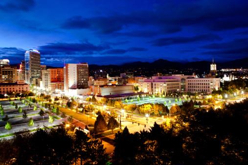 Financial District「Salt Lake City Utah Skyline golden hour」:スマホ壁紙(11)