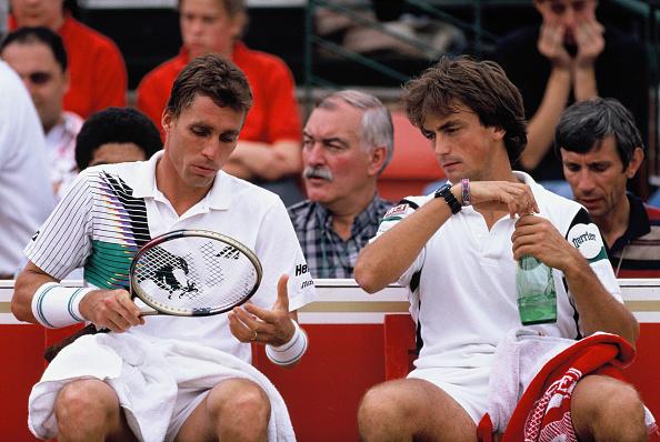 アンリ ルコント「Ivan Lendl and Henri Leconte」:写真・画像(6)[壁紙.com]