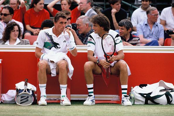 アンリ ルコント「Ivan Lendl and Henri Leconte」:写真・画像(2)[壁紙.com]
