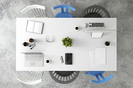 Template「Office desk business group knolling」:スマホ壁紙(10)