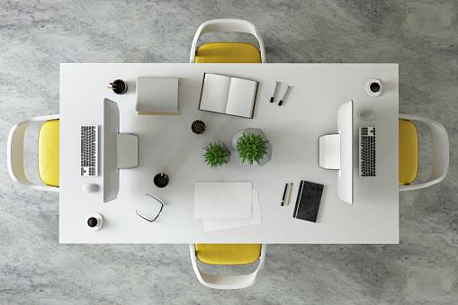 Template「Office desk business group knolling」:スマホ壁紙(15)