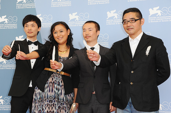 """Pascal Le Segretain「""""Fly With The Crane"""" Photocall - The 69th Venice Film Festival」:写真・画像(12)[壁紙.com]"""