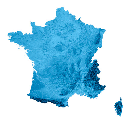 Brittany - France「France Topographic Map Isolated」:スマホ壁紙(8)