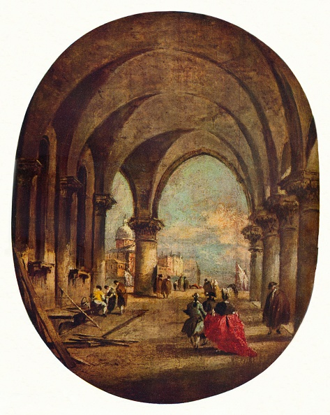 Ceiling「Capriccio With The Arcade Of The Doges Palace And San Giorgio Maggiore」:写真・画像(7)[壁紙.com]