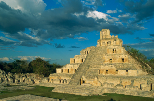 Archaeology「Mexico, Campeche, Mayan piramide in Edzna」:スマホ壁紙(15)