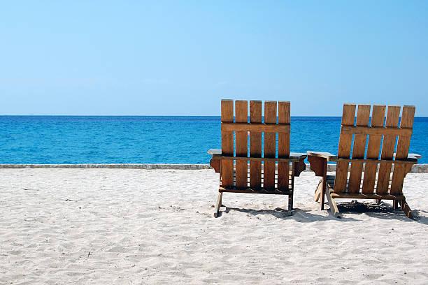 Beach Chairs on White Sand Overlooking Caribbean:スマホ壁紙(壁紙.com)