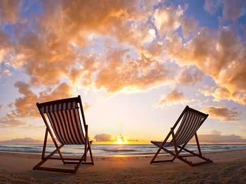 Two Objects「Beach Chair Sunrise」:スマホ壁紙(10)