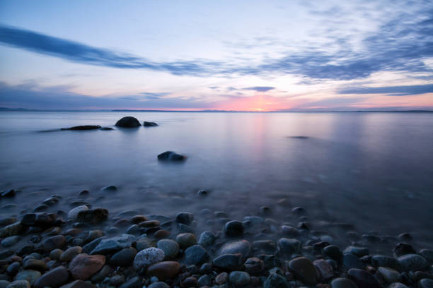 Crescent Beach at sunset, Surrey, BC, Canada:スマホ壁紙(壁紙.com)