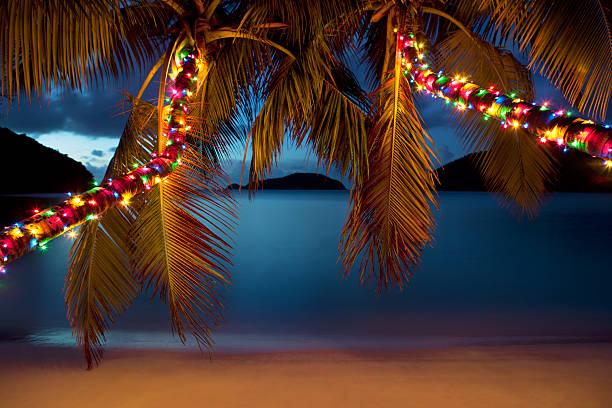 Christmas at the Caribbean beach:スマホ壁紙(壁紙.com)