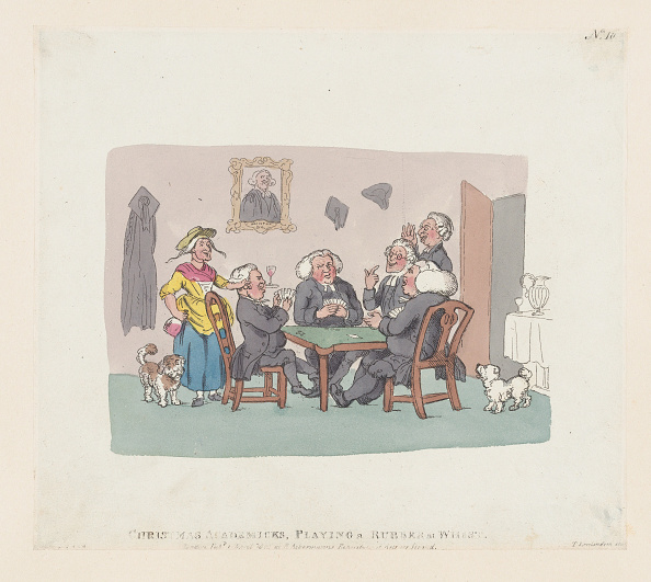 Etching「Christmas Academics Playing A Rubber At Whist」:写真・画像(15)[壁紙.com]