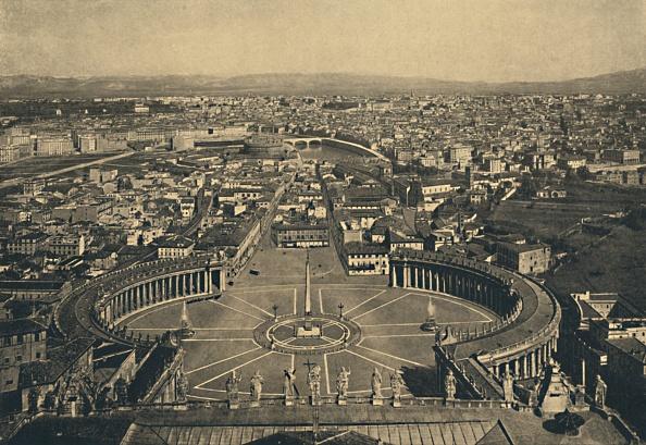 バシリカ「Roma - Panaromic View From The Cupola Of St Peters 1910」:写真・画像(7)[壁紙.com]