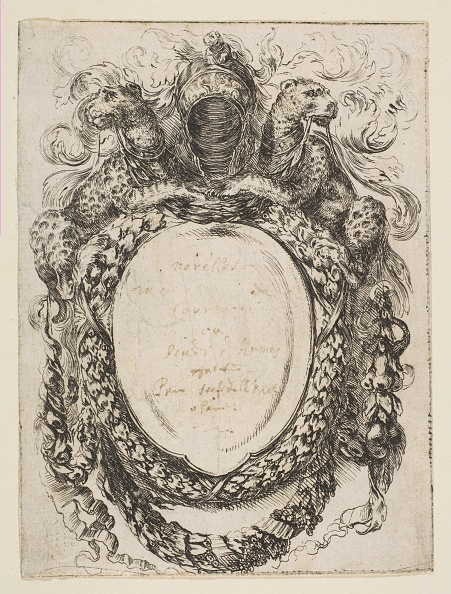 Etching「Cartouche Crowned By Helmet And Leopards」:写真・画像(14)[壁紙.com]