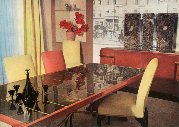 Dining Room「Dining-Room In Sang-De-Boeuf Lacquer」:写真・画像(9)[壁紙.com]