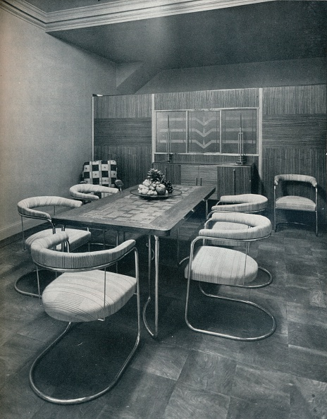 Dining Room「'A dining-room suite, with table and chairs of steel tube. By Practical Equipment Ltd., of London',  Artist: Unknown.」:写真・画像(18)[壁紙.com]