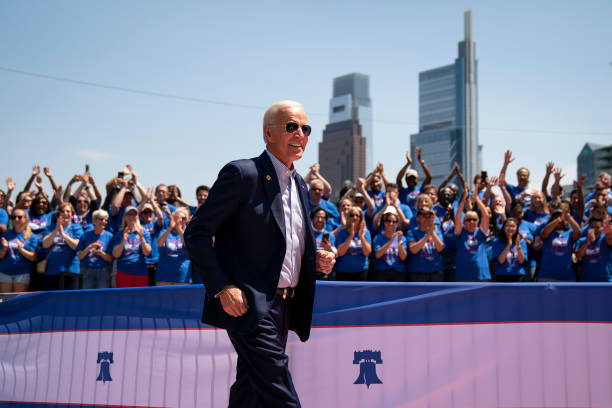 Joe Biden Holds Official Presidential Campaign Kickoff Rally In Philadelphia:ニュース(壁紙.com)