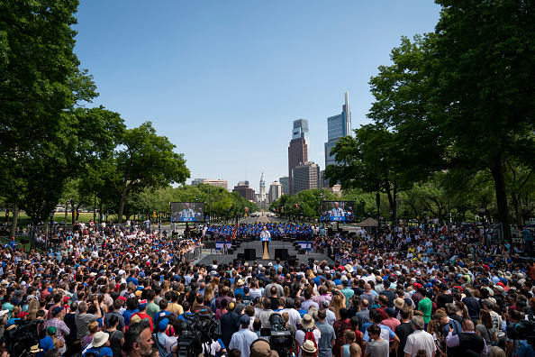 Philadelphia - Pennsylvania「Joe Biden Holds Official Presidential Campaign Kickoff Rally In Philadelphia」:写真・画像(3)[壁紙.com]