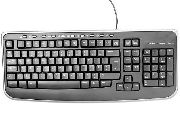 Black Computer Keyboard on White Background:スマホ壁紙(壁紙.com)