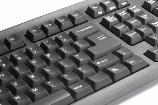 Computer Keyboard「Black computer keyboard, isolated on white background」:スマホ壁紙(3)