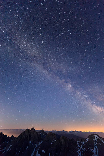 milky way above the lechtaler alps - tirol, austria:スマホ壁紙(壁紙.com)