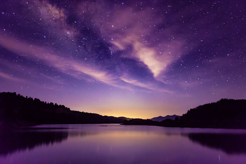 Starry sky「Milky way and Starry sky scene, South China」:スマホ壁紙(9)