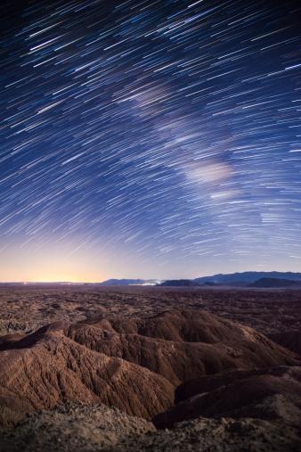 星空「Milky Way above the Borrego Badlands, California.」:スマホ壁紙(8)