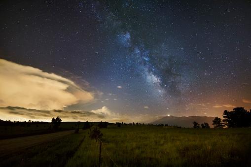 star sky「Milky Way above Pikes Peak」:スマホ壁紙(6)