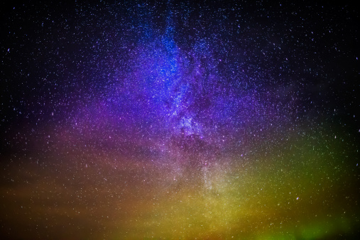 Star - Space「Milky Way and Aurora Borealis, Iceland」:スマホ壁紙(15)