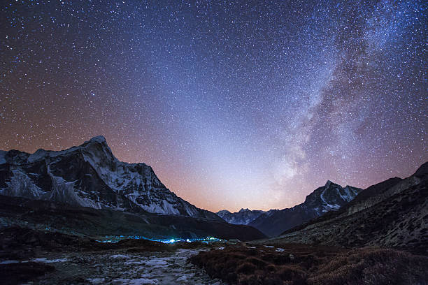 Milky Way and zodiacal light ove the Himalayas in eastern Nepal.:スマホ壁紙(壁紙.com)