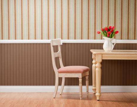 チューリップ「赤いチューリップのダイニングテーブル」:スマホ壁紙(3)