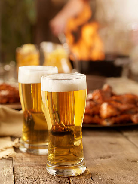 Beer and BBQ Chicken:スマホ壁紙(壁紙.com)