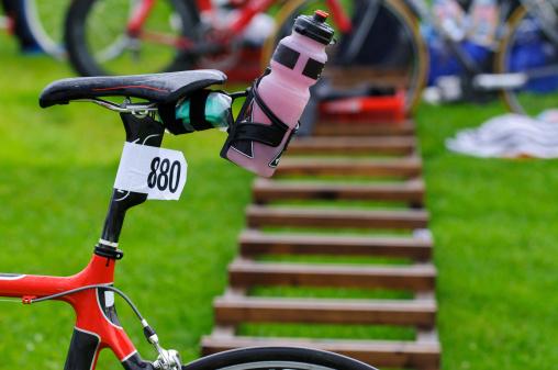 Competitive Sport「Triathlon bike in transition zone」:スマホ壁紙(1)