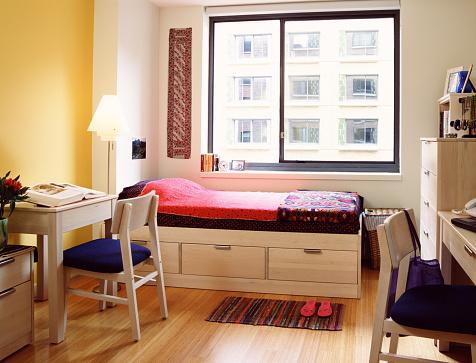 College Dorm「Dorm Room with Storage Bed and Desks」:スマホ壁紙(9)
