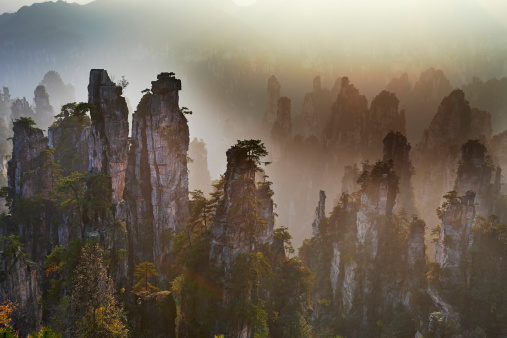 UNESCO World Heritage Site「China, Hunan Province, Wulingyuan Scenic Area」:スマホ壁紙(7)