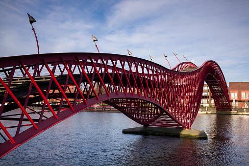 Footbridge「Netherlands, Amsterdam, Exterior」:スマホ壁紙(10)