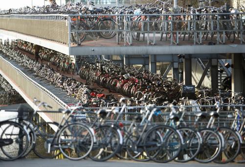 Amsterdam「Netherlands, Amsterdam, Central Station bicycle park」:スマホ壁紙(7)