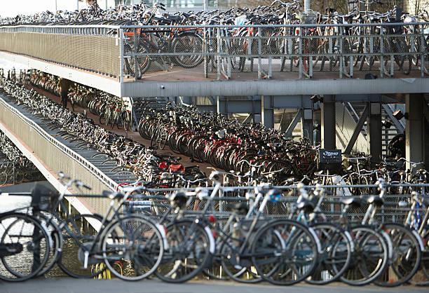 Netherlands, Amsterdam, Central Station bicycle park:スマホ壁紙(壁紙.com)