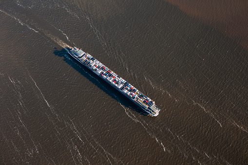 North Brabant「Netherlands, Cargo Ship Transports New Cars」:スマホ壁紙(15)