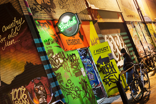 North Brabant「Netherlands, Eindhoven, District Strijp-S. Entrance of Area Fifty One Skatepark」:スマホ壁紙(2)