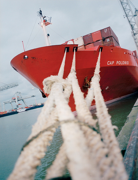 Netherlands「Netherlands, Rotterdam. Containership CAP POLONIO in Rotterdam harbour」:写真・画像(5)[壁紙.com]