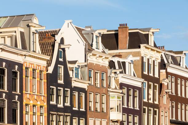 Netherlands, Amsterdam, row of old houses at Prinsengracht:スマホ壁紙(壁紙.com)
