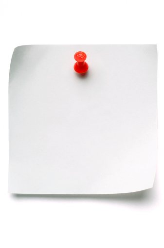 Straight Pin「White Post-it Note with Push Pin」:スマホ壁紙(1)