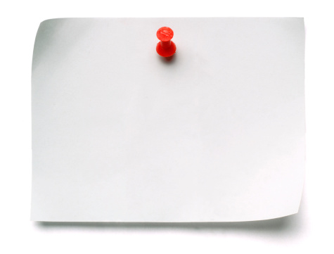 Note - Message「White Post-it Note with Push Pin」:スマホ壁紙(13)