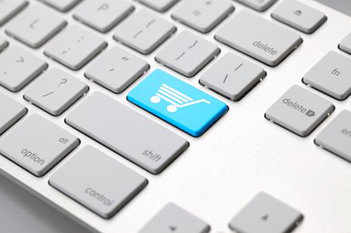 Computer Keyboard「Computer keyboard - SHOPPING CART ICON」:スマホ壁紙(10)
