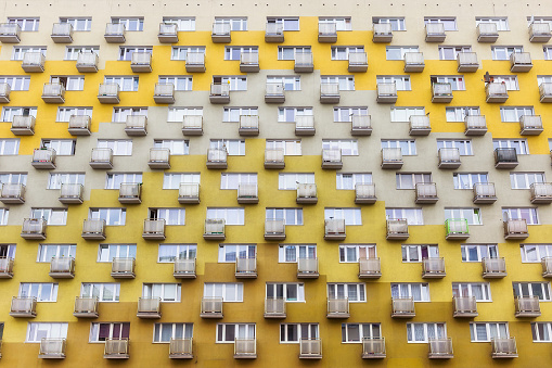 Housing Project「Row of balconies in old apartment building」:スマホ壁紙(9)