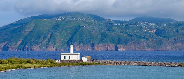 Lipari Island「Lingua lighthouse on Salina, the second largest island in the Aeolian Islands (Sicily, Italy)」:スマホ壁紙(9)