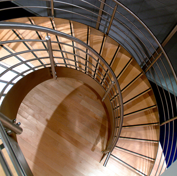 Steps「Spiral staircase made of steel and sustainable timber」:写真・画像(13)[壁紙.com]